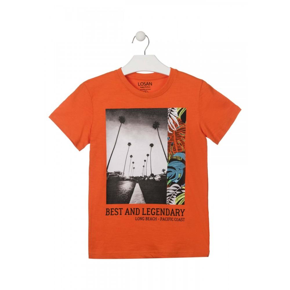 Camiseta Losan niño Best and Legendary manga corta