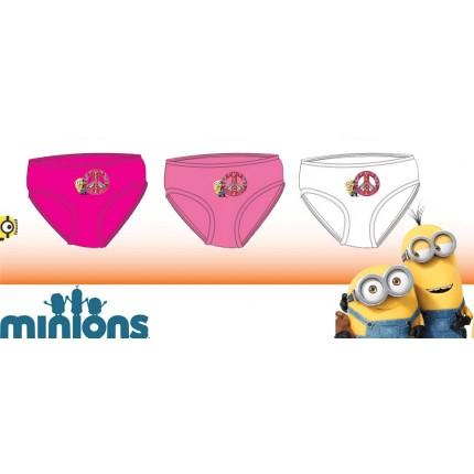Braguitas Minions niña pack de 3 junior