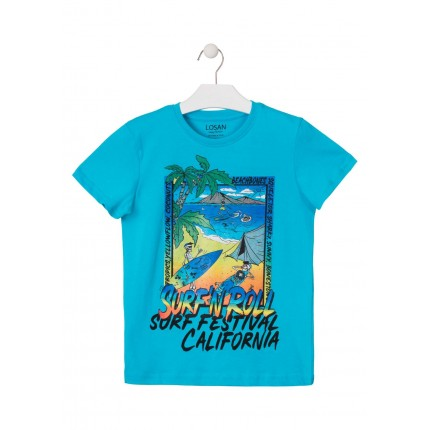 Camiseta Losan niño junior Surf Festival California manga corta