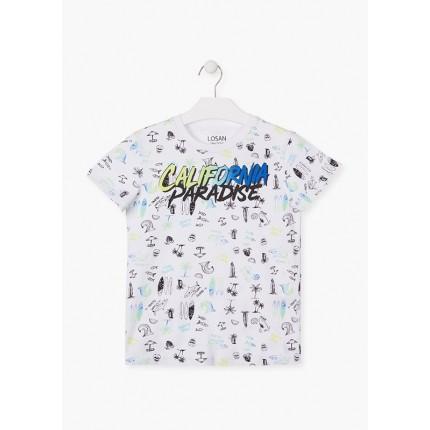 Camiseta Losan niño junior California Paradise manga corta