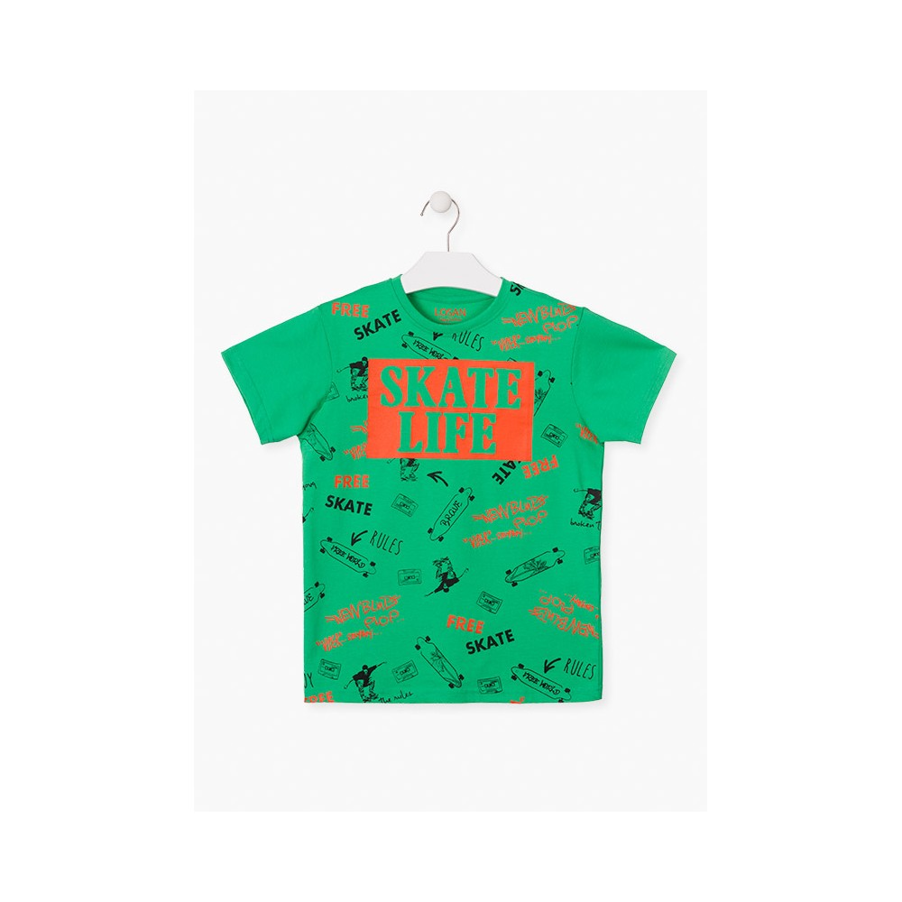 Camiseta Losan niño junior Skate Life manga corta