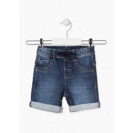 Pantalón Denim Losan niño cordón básico