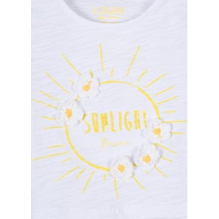 Detalle estampado Camiseta Losan Kids niña infantil Sunlight manga corta