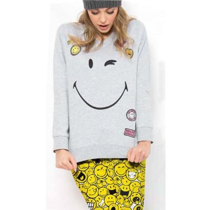 Pijama mujer Emoticonos Sonrisa manga larga