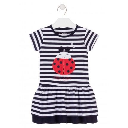 Vestido Losan Kids niña Coccinella infantil manga corta