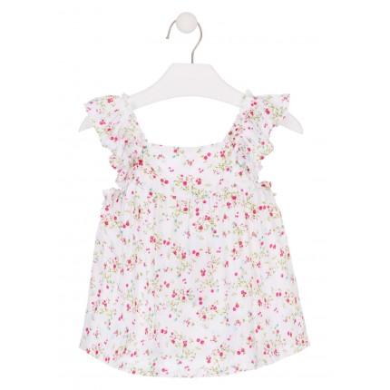 Camisa Losan Kids niña infantil Flores sin mangas