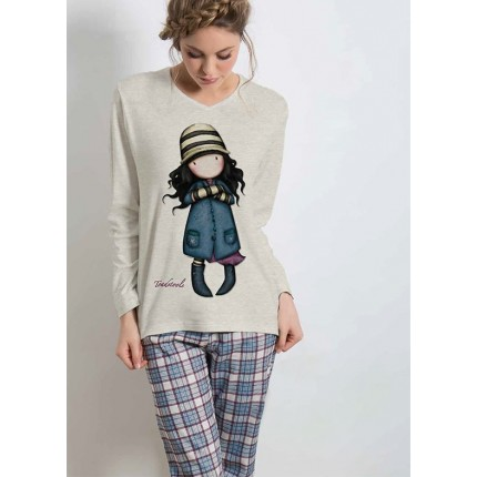 Pijama mujer Gorjuss The Foxes Santoro manga larga