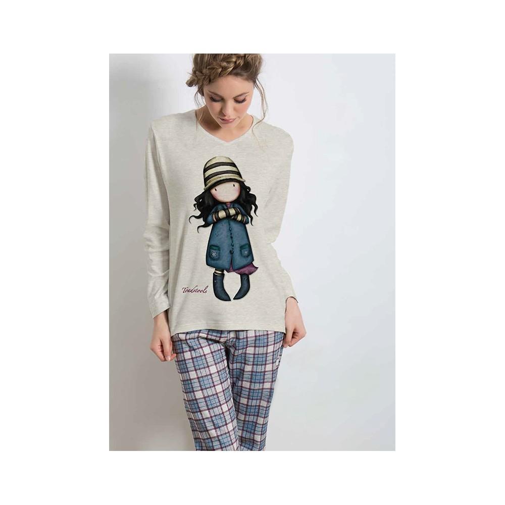 Pijama mujer Gorjuss The Foxes Santoro manga larga