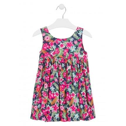 Vestido Losan Kids niña infantil Flores sin mangas