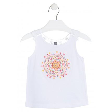 Camiseta Losan Kids niña infantil tirantes