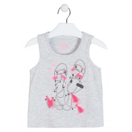 Camiseta Losan Kids niña infantil Sandalias sin mangas