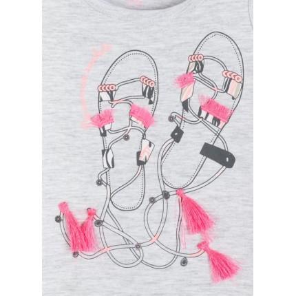 Detalle estampado Camiseta Losan Kids niña infantil Sandalias sin mangas