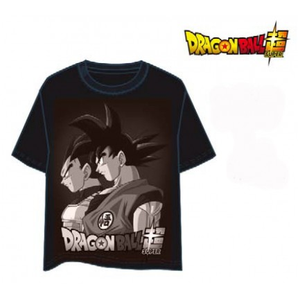 Camiseta Dragon Ball Z niño junior Goku y Vegeta manga corta