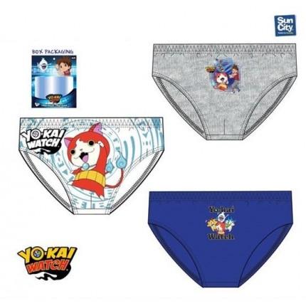 Pack de 3 Slips Yo kai Watch niño infantil