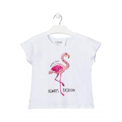 Camiseta Losan niña junior Summer Time abierta espalda