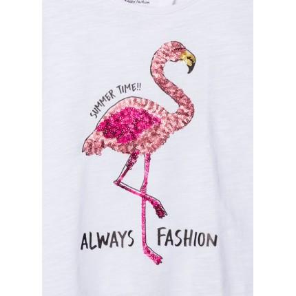 Detalle estampado Camiseta Losan niña junior Summer Time abierta espalda