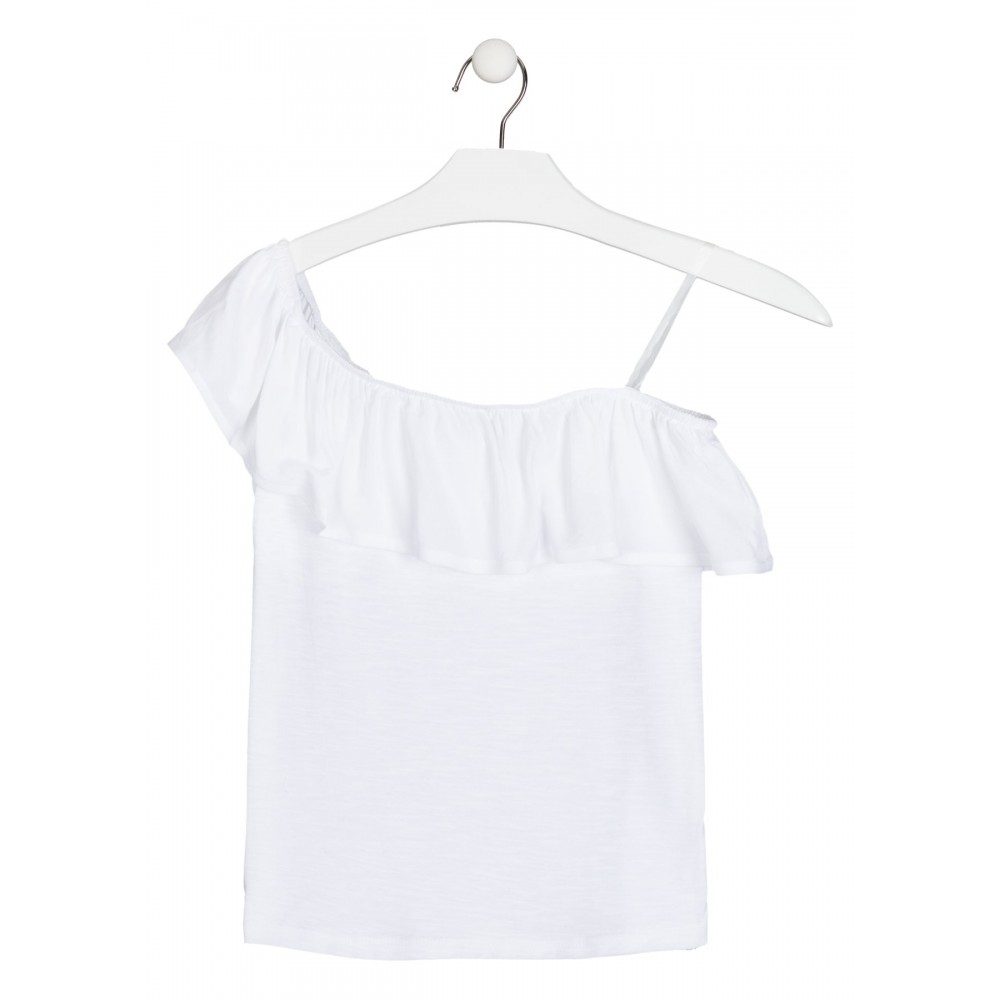 Camiseta Losan niña junior hombro descubierto