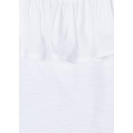 Detalle fleco Camiseta Losan niña junior hombro descubierto