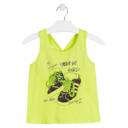 Camiseta Losan niña junior Influencer tirantes