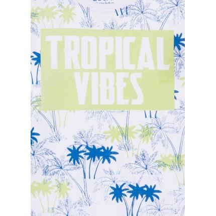 Detalle estampado Camiseta Losan niño Tropical Vibes junior manga corta