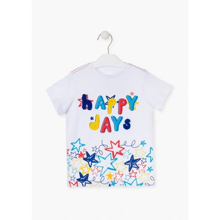 Camiseta Losan Kids Happy Days niño infantil manga corta