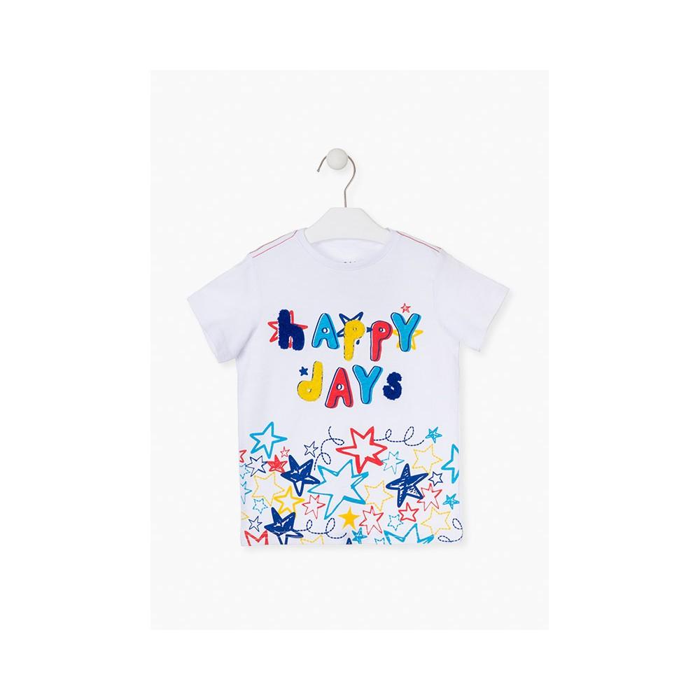Camiseta Losan Kids Happy Days niño infantil manga corta