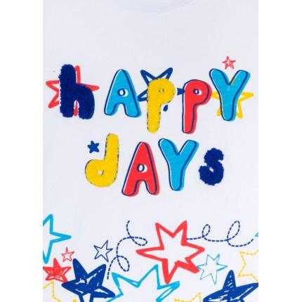 Detalle estampado Camiseta Losan Kids Happy Days niño infantil manga corta