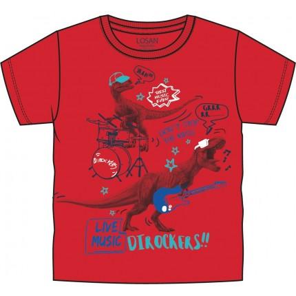 Camiseta Losan Kids Dinos Dirockers! niño infantil manga corta