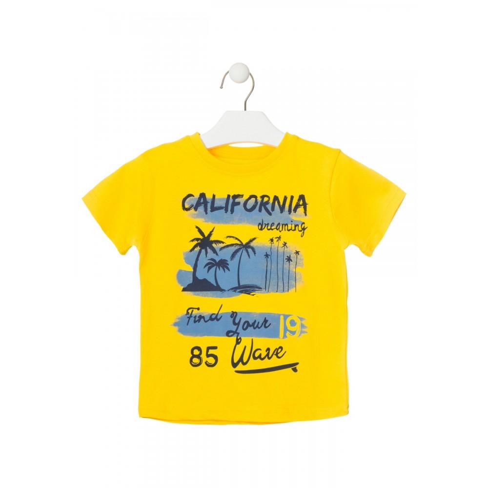 Camiseta Losan Kids niño infantil Beach! manga corta Amarillo