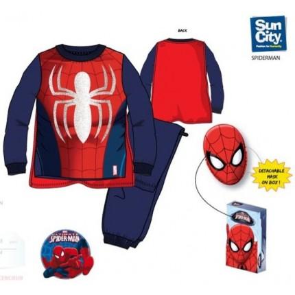 Pijama Spider-man niño polar capa y mascara