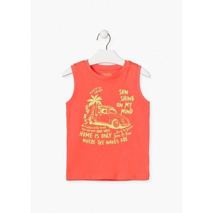 Camiseta Losan Kids niño infantil Paradise sin mangas