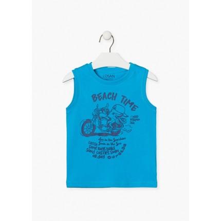 Camiseta Losan Kids niño infantil Beach Time sin mangas