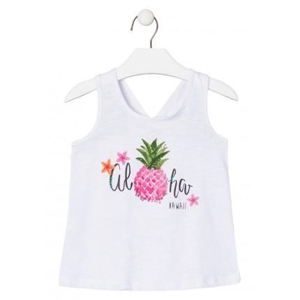 Camiseta Losan Kids niña infantil Aloha tirantes