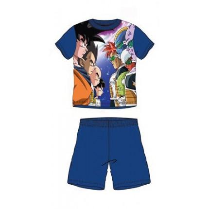 Pijama Dragon Ball Súper Sayan niño manga corta Azul marino