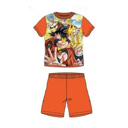 Pijama Dragon Ball Súper Sayan niño manga corta Naranja