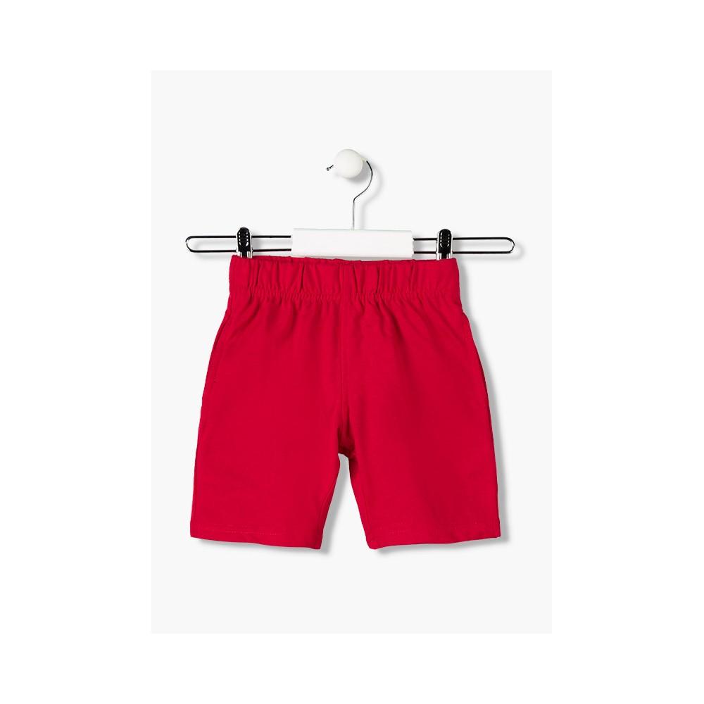 Bermuda básica Losan Kids niño infantil con cordón Rojo