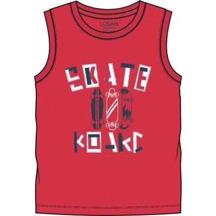 Camiseta Losan Kids niño infantil California sin mangas Rojo