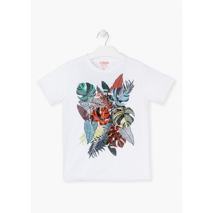 Camiseta Losan niño junior calavera oculta manga corta