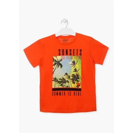 Camiseta Losan niño junior Summer is Here manga corta