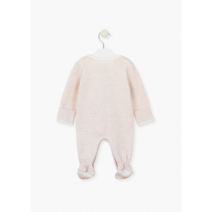 Espalda Pelele Losan Bebe Newborn con muñeco rosa