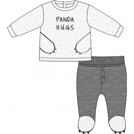 Conjunto Losan Bebe Newborn Panda Hugs