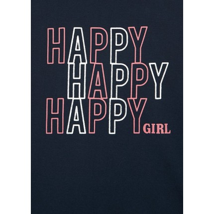 Detalle estampado Camiseta Losan niña junior Happy Girl manga larga