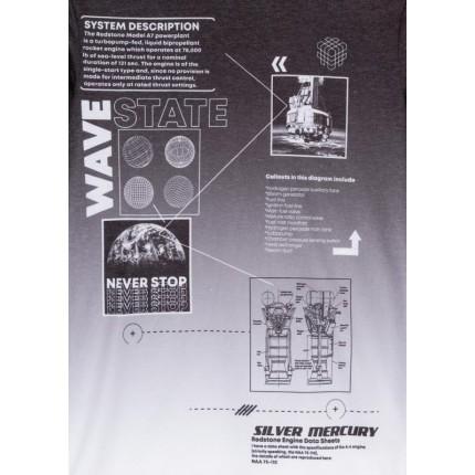 Detalle estampado Camiseta Losan niño junior Wave State manga larga