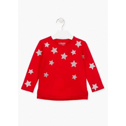 Camiseta Losan Kids niña Estrellas infantil manga larga
