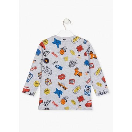 Espalda Camiseta Losan Kids niño Smile Boy infantil manga larga