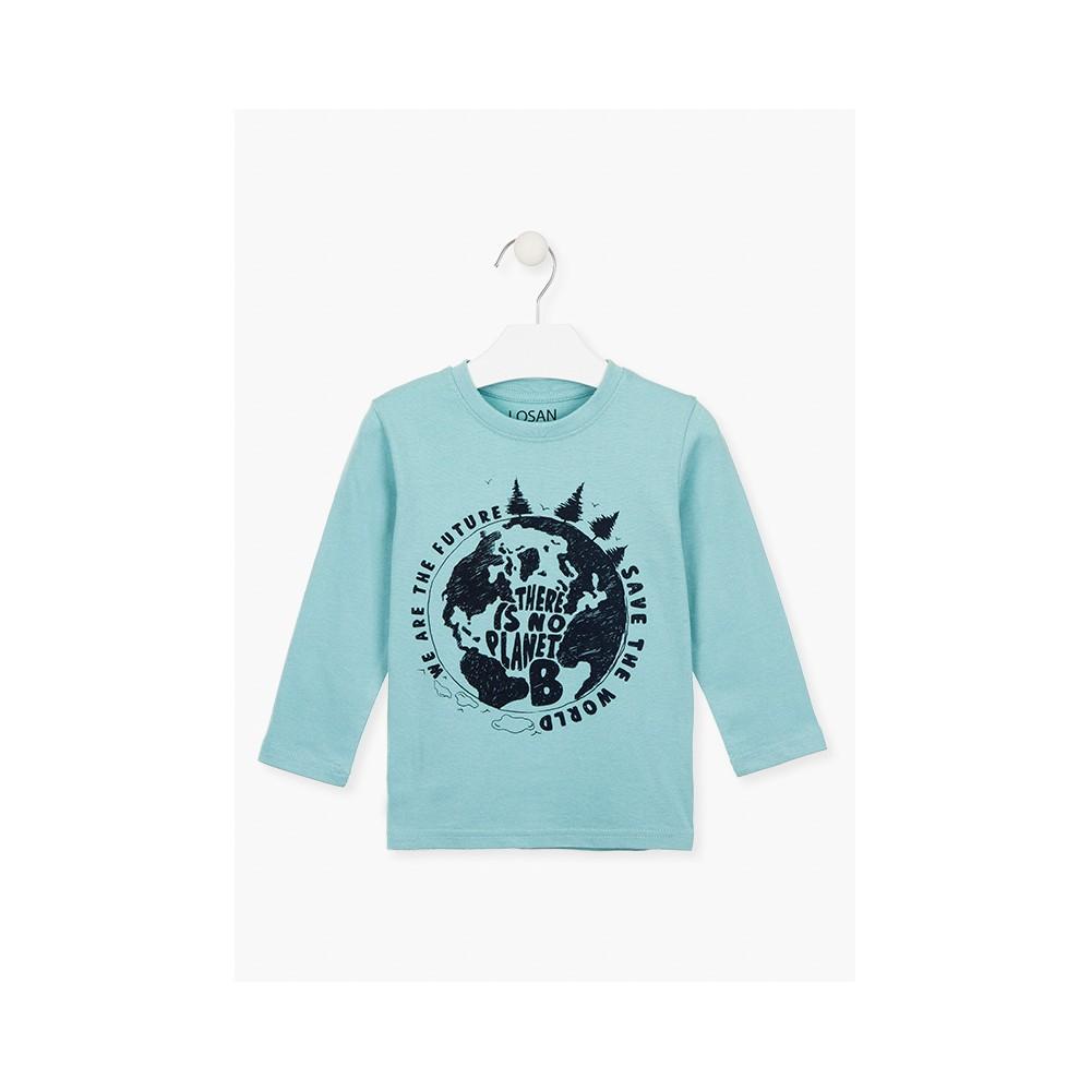 Camiseta Losan Kids niño There is no Planet B infantil manga larga
