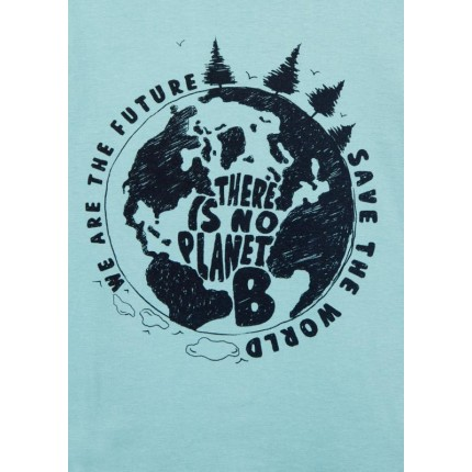 Detalle estampado Camiseta Losan Kids niño There is no Planet B infantil manga larga