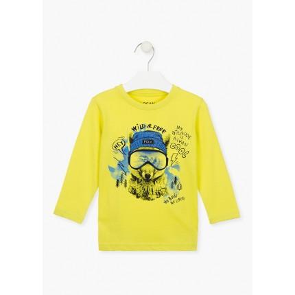 Camiseta Losan Kids niño Wild & Free infantil manga larga