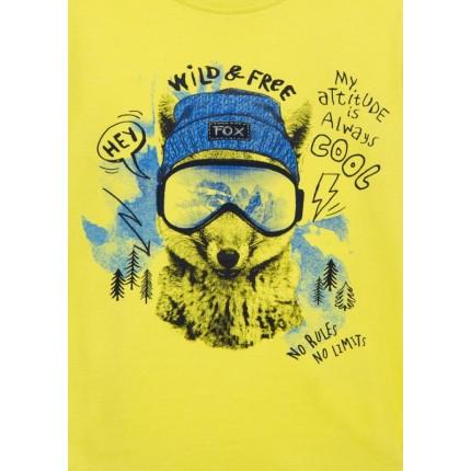 Detalle estampado Camiseta Losan Kids niño Wild & Free infantil manga larga