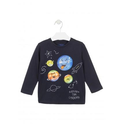Camiseta Losan Kids niño Explore infantil manga larga